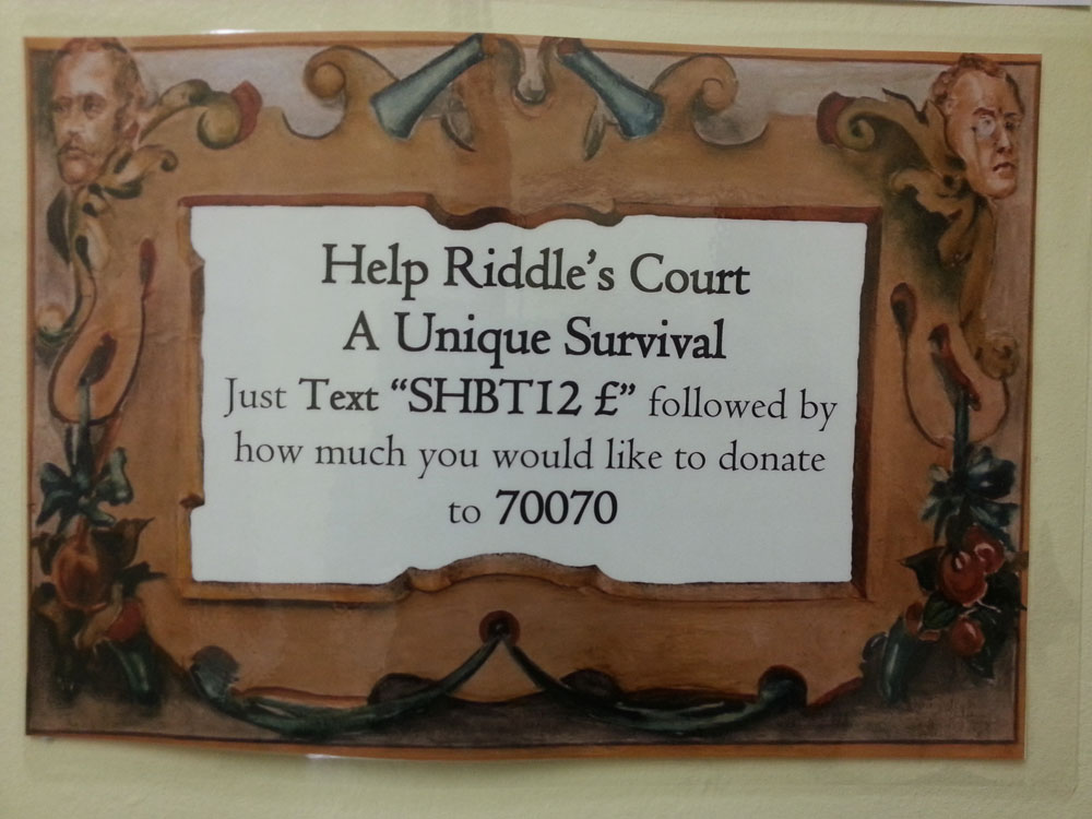 Riddle's Court Text Donation Scheme